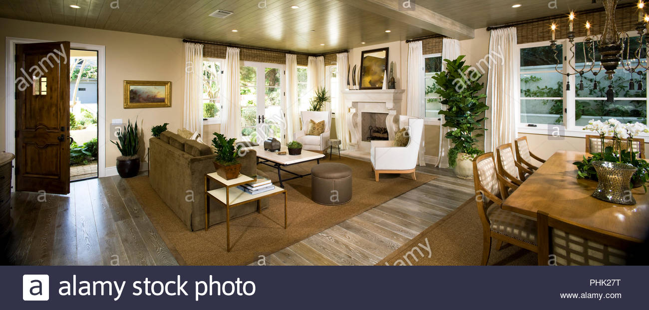 Open plan living area - Stock Image