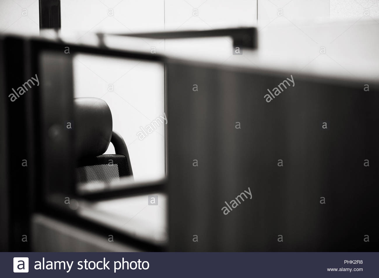 Chair in office cubicle - Stock Image