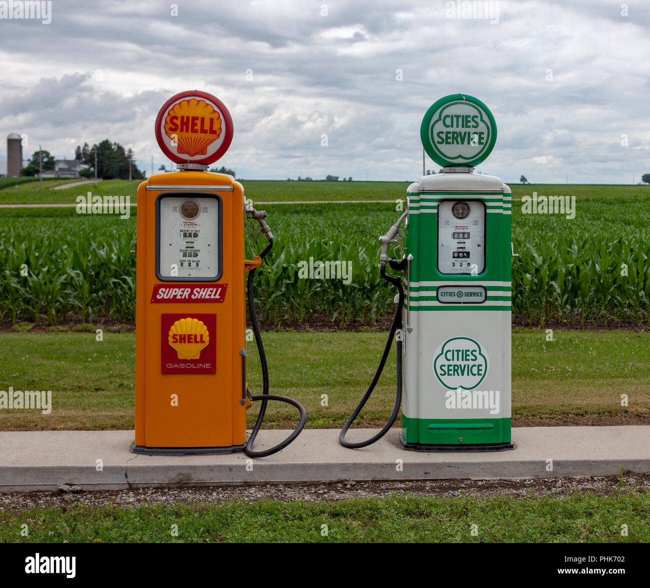 Gas Station For Sale In Alberta >> Vintage Gas Pumps Stock Photos & Vintage Gas Pumps Stock ...