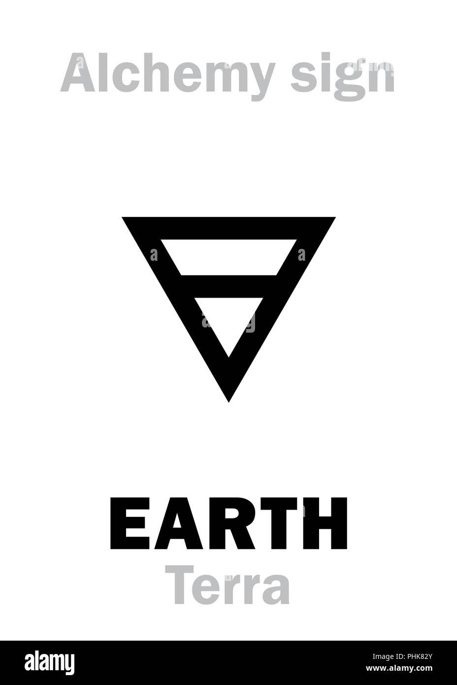 Alchemy: EARTH (Terra) - Stock Image