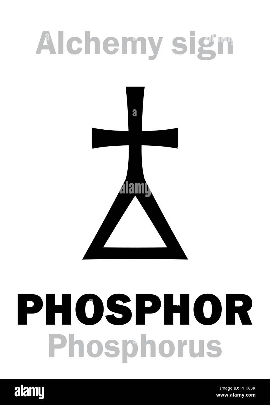 Alchemy: PHOSPHOR (Phosphorus) - Stock Image