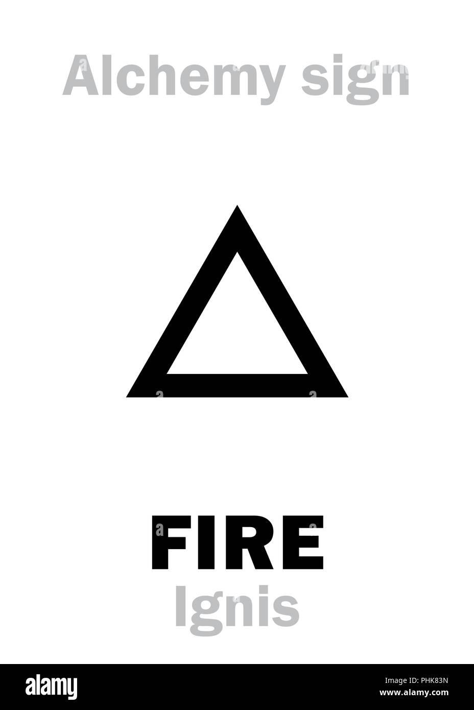 Alchemy: FIRE (Ignis) - Stock Image