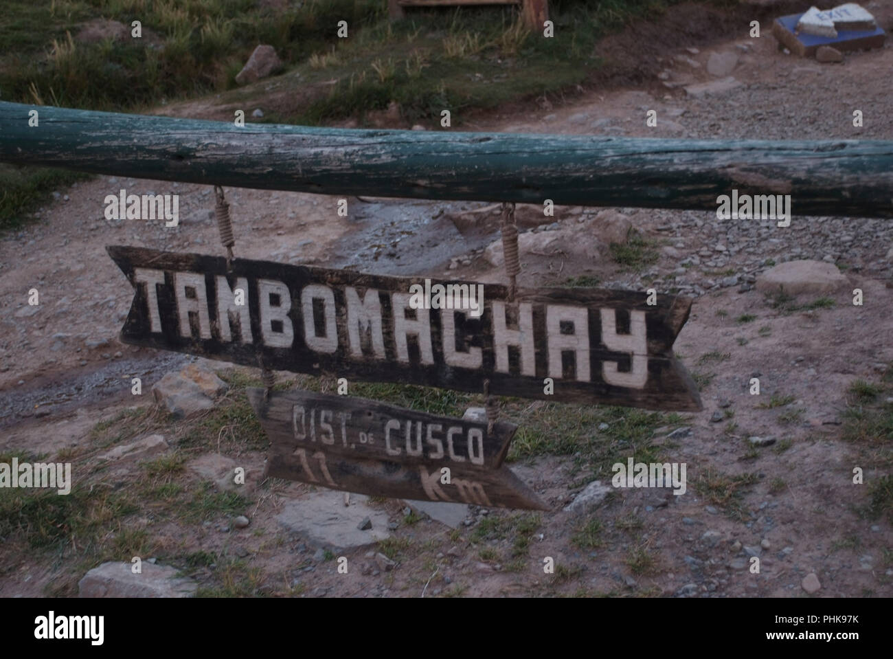 Ruin Spring in Tambomachay or Tampumachay, archaeological site associated with the inca empire, located near Cusco Stock Photo
