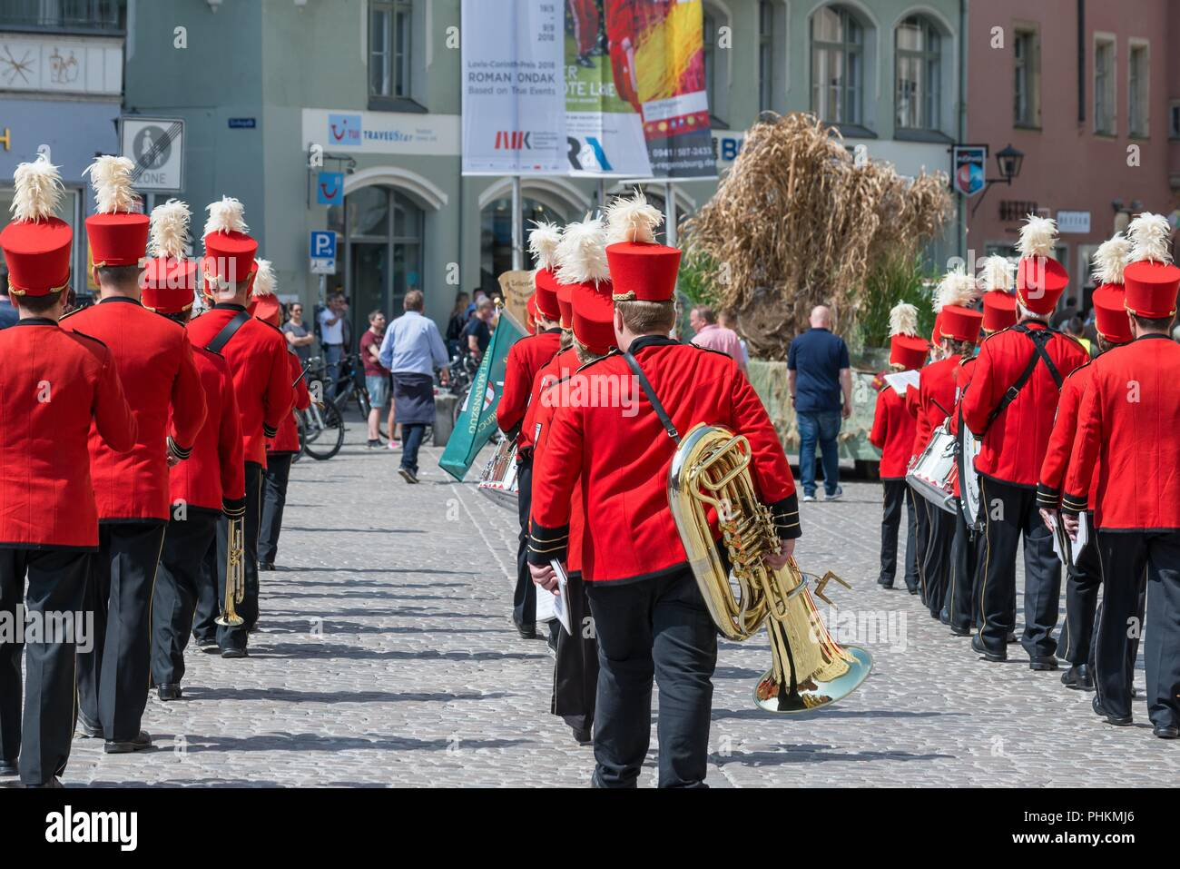 Regensburg, Germany, Mai 10, 2018, Maidult procession in Regensburg, Germany - Stock Image