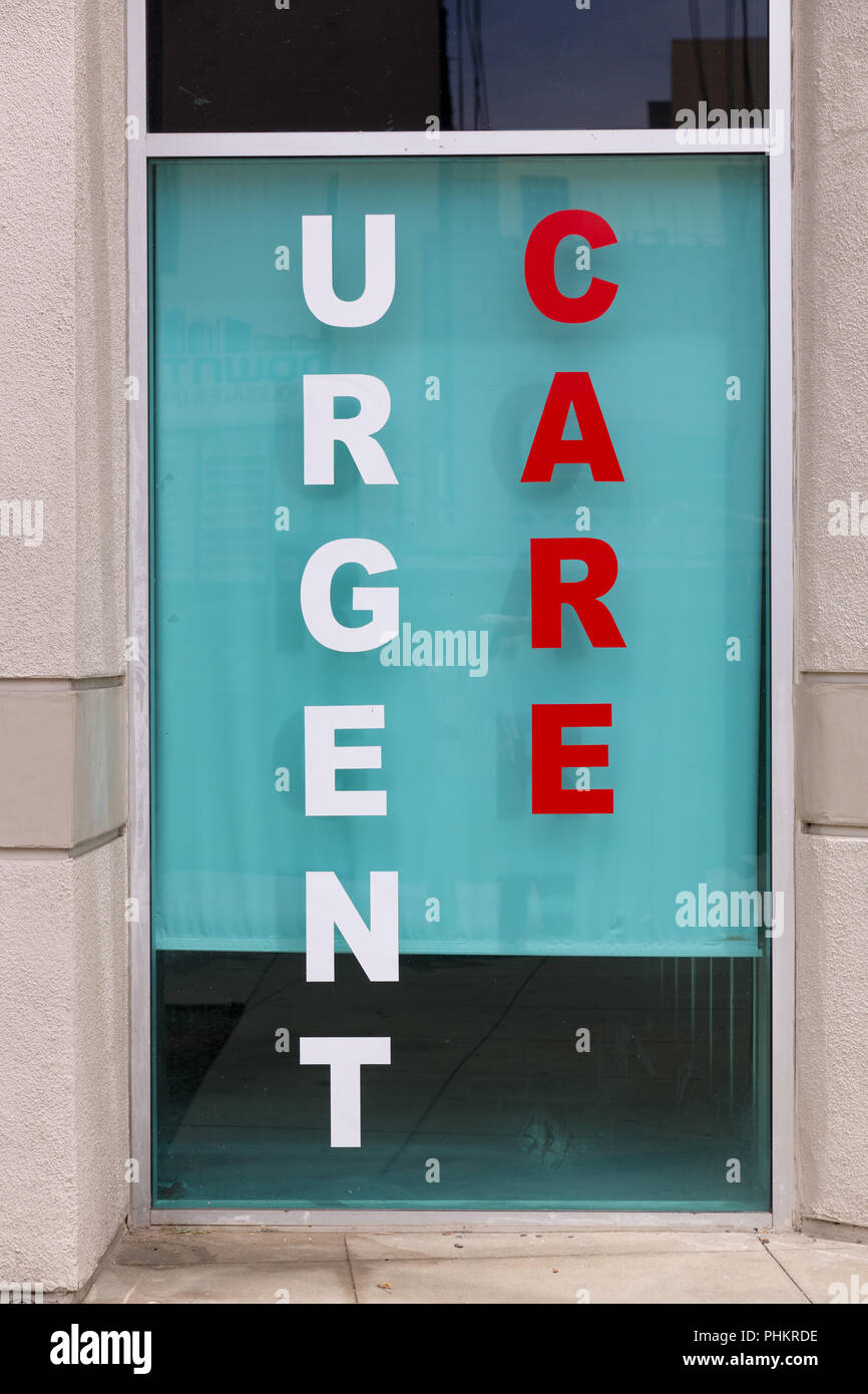 Urgent Care facility in Downtown Los Angeles, California. - Stock Image