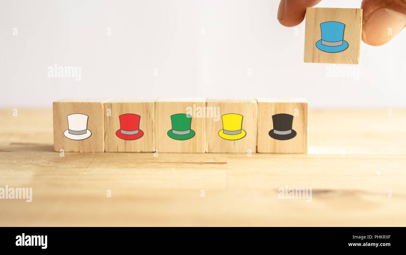 Six Thinking Hats Concept The Success Way To Under The Human Wear Which Hat When Talking About The Hats Including Feeling Emotion Creativity Aware