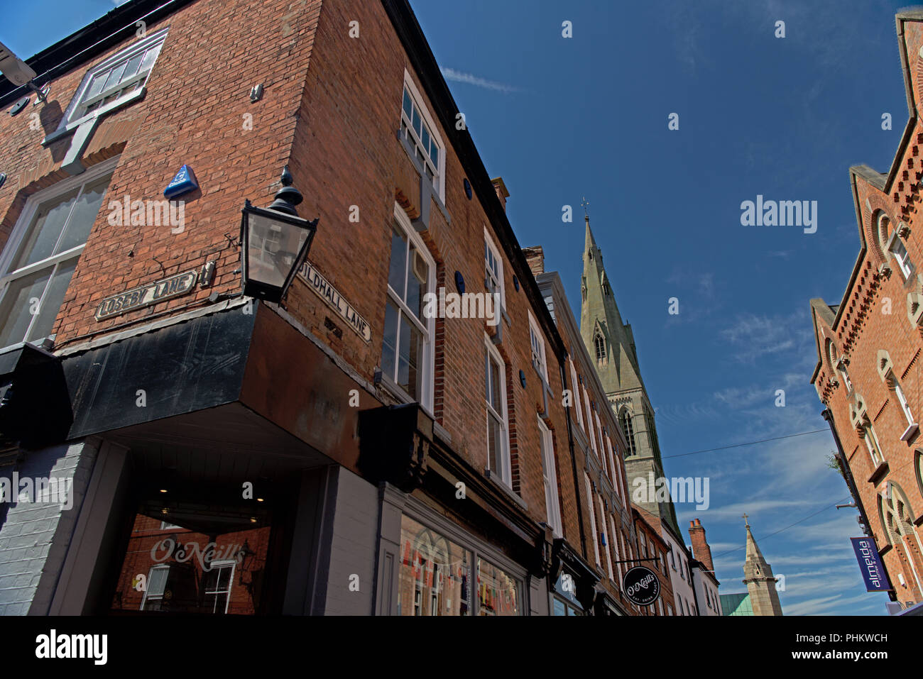 An old gas lamp in the conservation area of Leicester Stock Photo