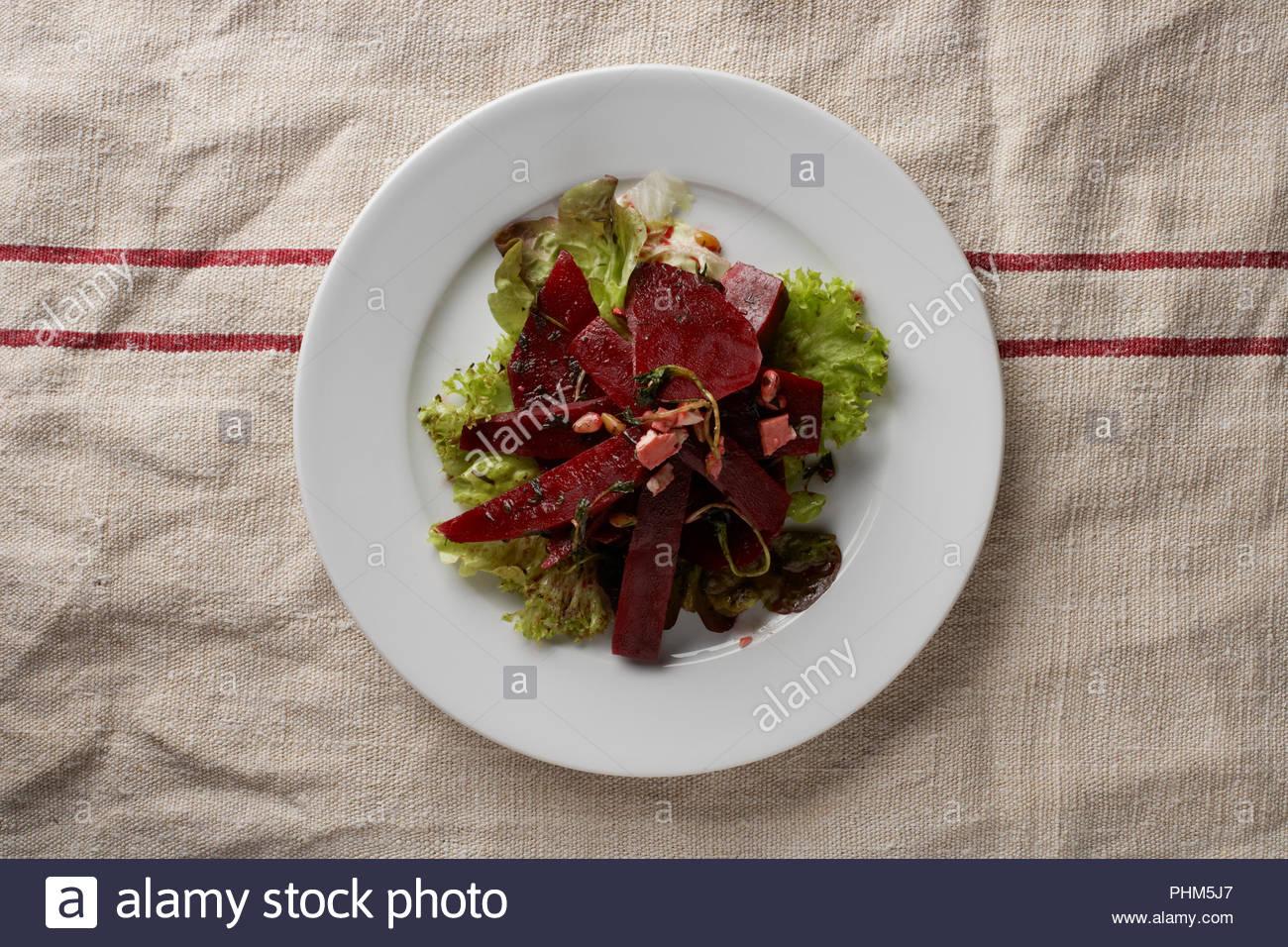 Beetroot salad - Stock Image
