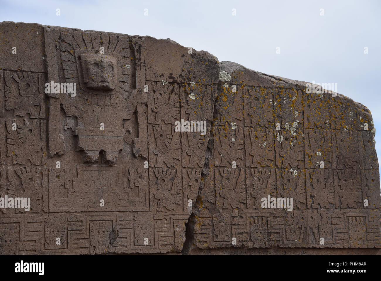 Bolivia tiahuanaco tiwanaku precolombian stock photos