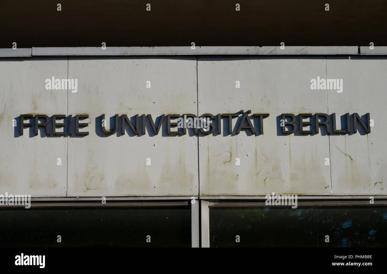 Freie Universitaet, Fachbereich Biologie Chemie, Koenigin-Luise-Strasse 12 - 16, Dahlem, Berlin, Deutschland - Stock Image