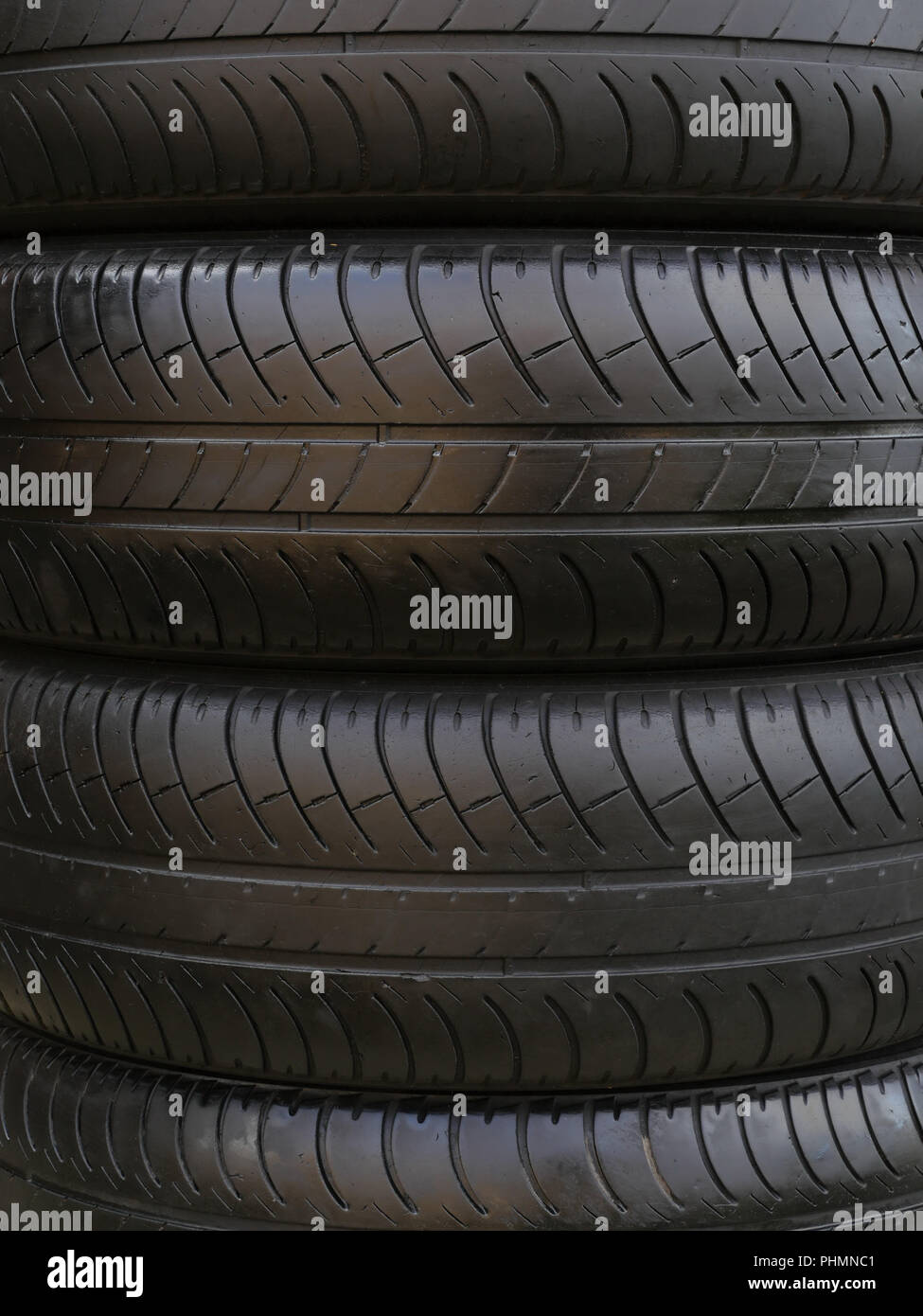 Stack of car tires - Stock Image