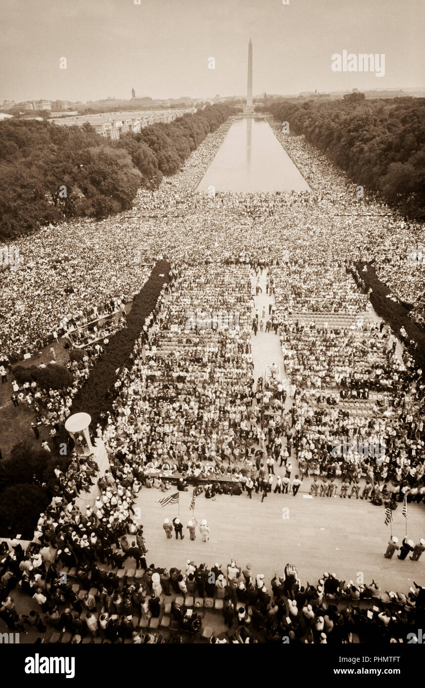 The Reverend Dr Martin Luther King Jr At The March On Washington