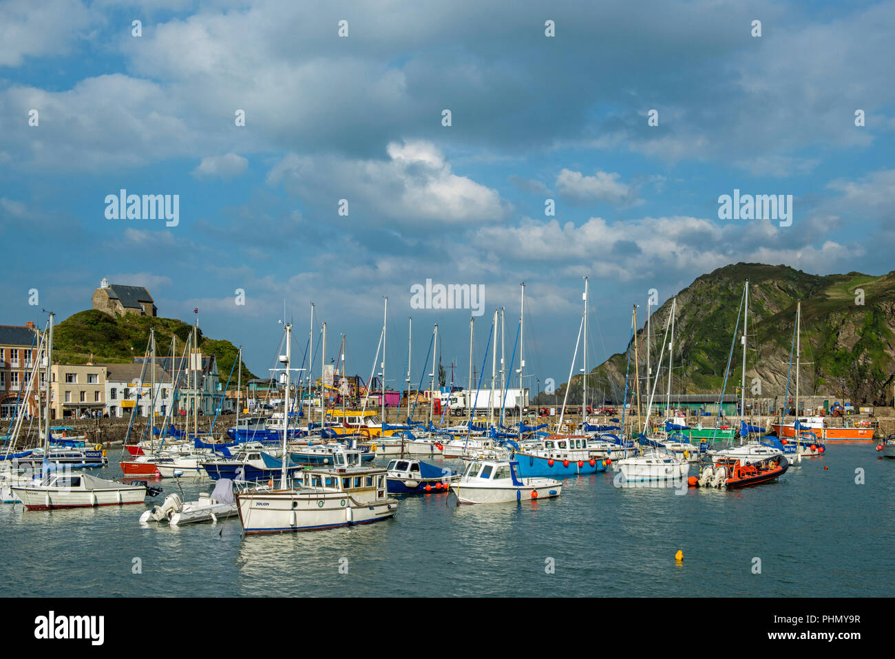 Ilfracombe Harbour North Devon, on the South West Coast Path, photographed in September Stock Photo