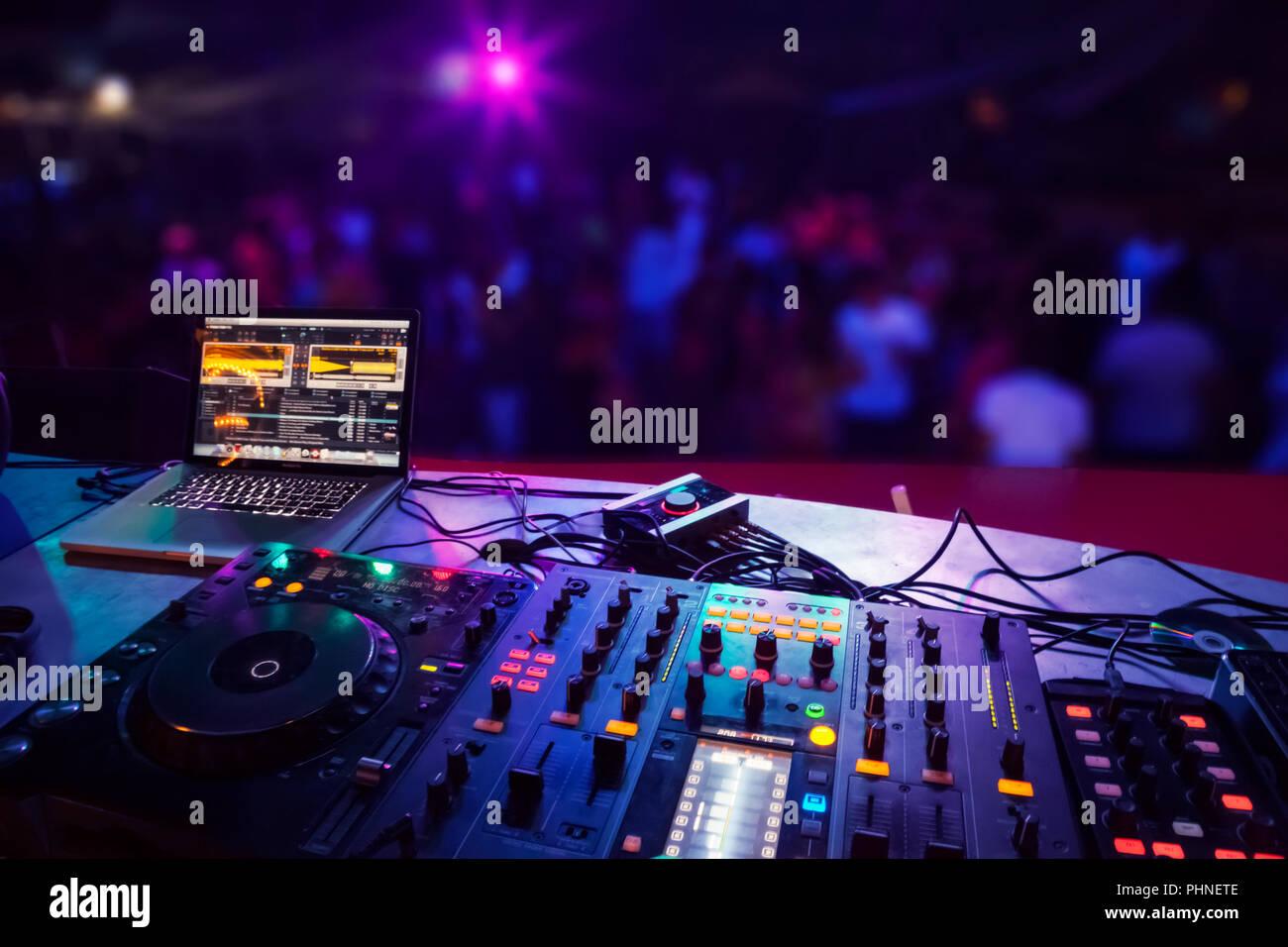 DJ stand - Stock Image