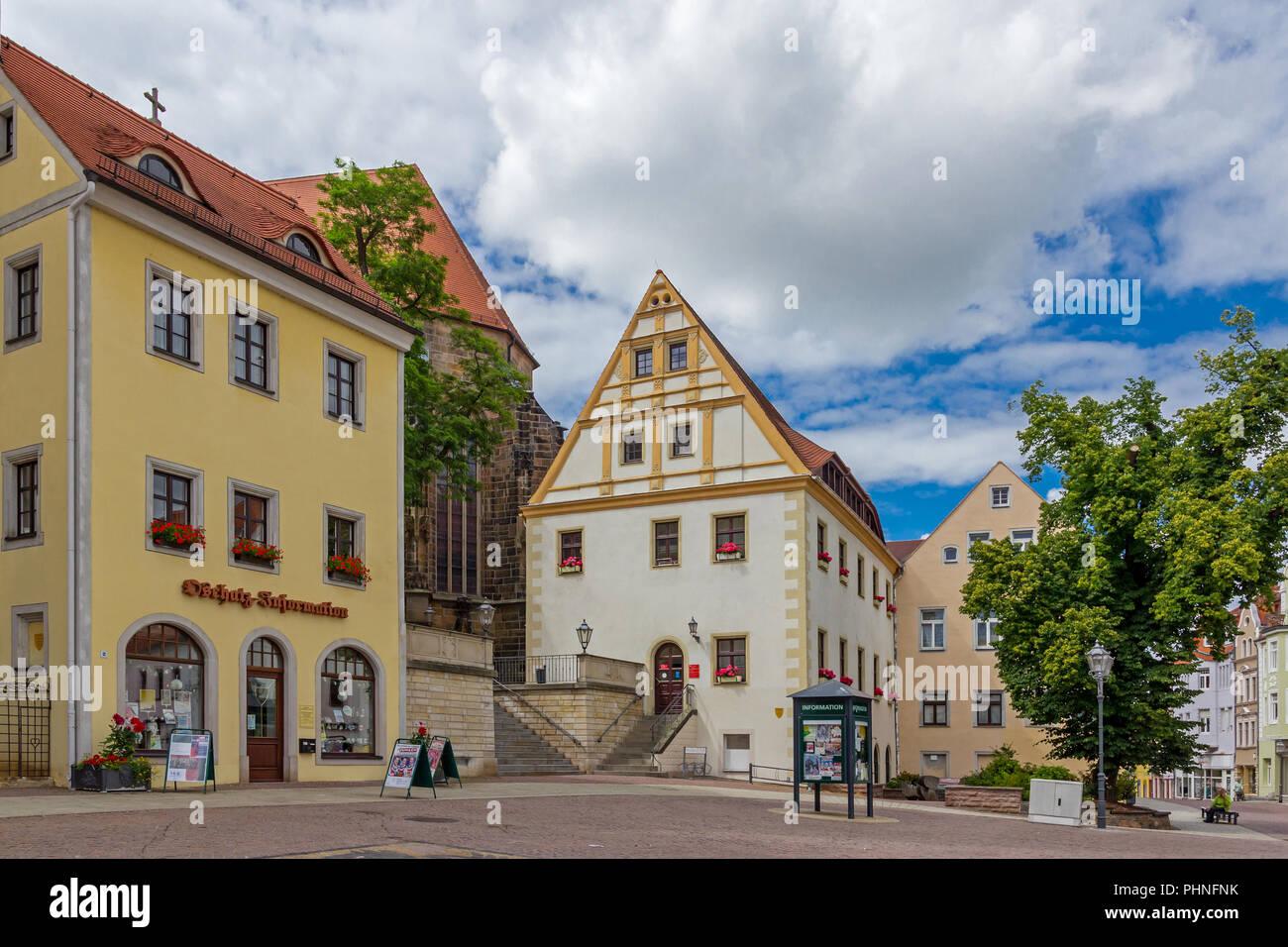 Oschatz market Stock Photo