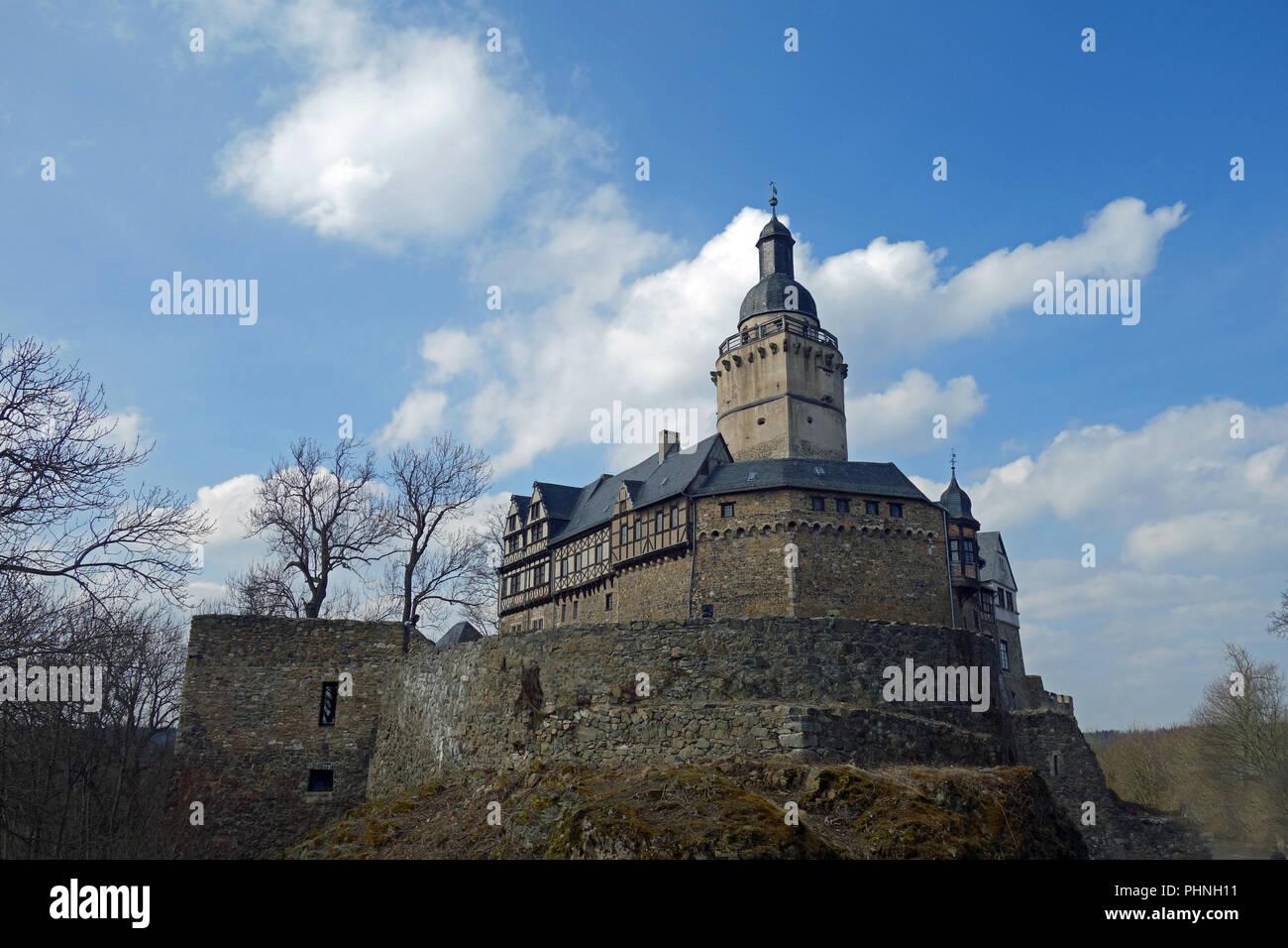 Castle Falkenstein in the Harz,germany Stock Photo