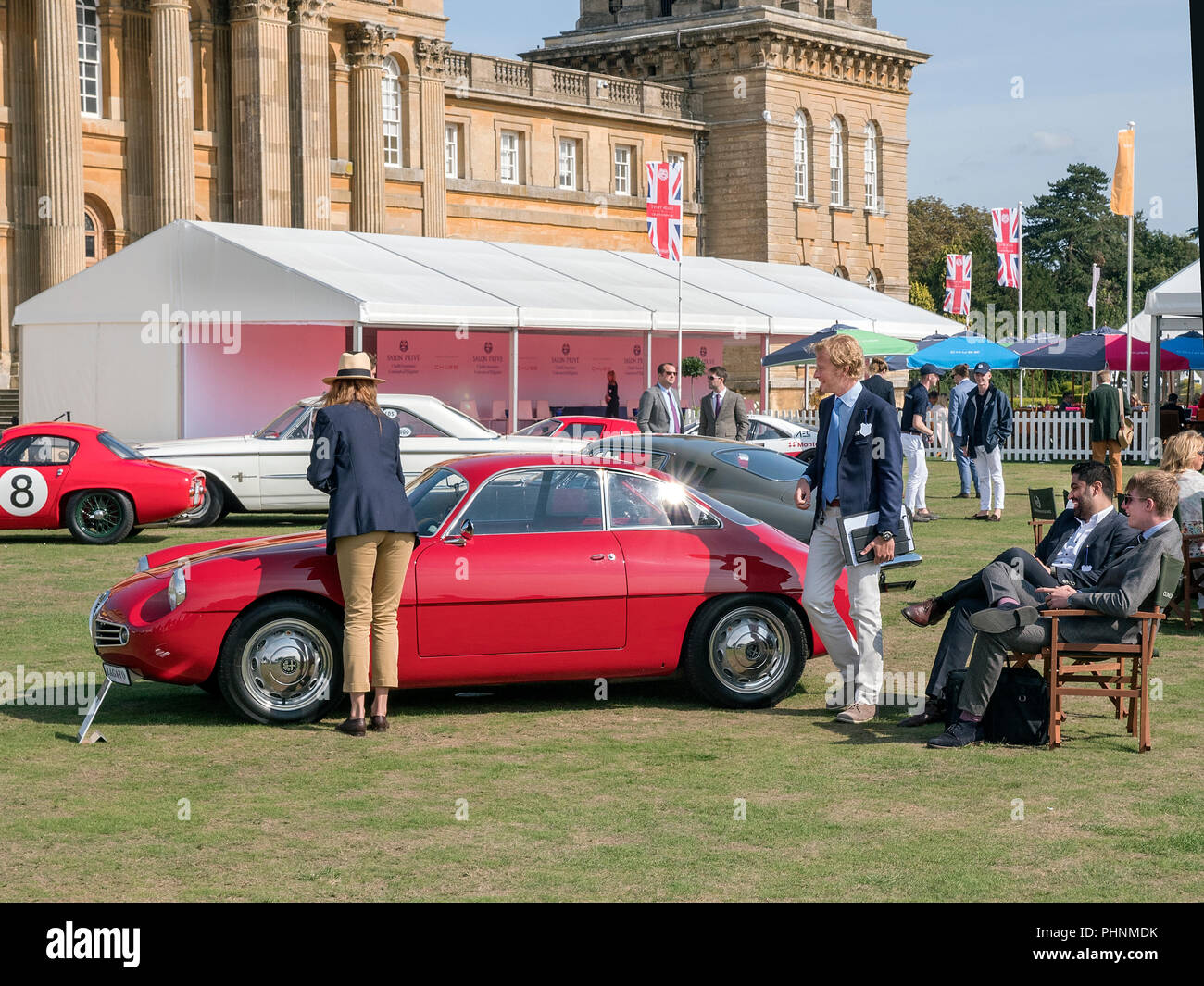 1960 Alfa Romeo Giulietta Sprint Zagato at  Salon Prive 2018 at Blenheim Palace Woodstock Oxfordshire UK - Stock Image
