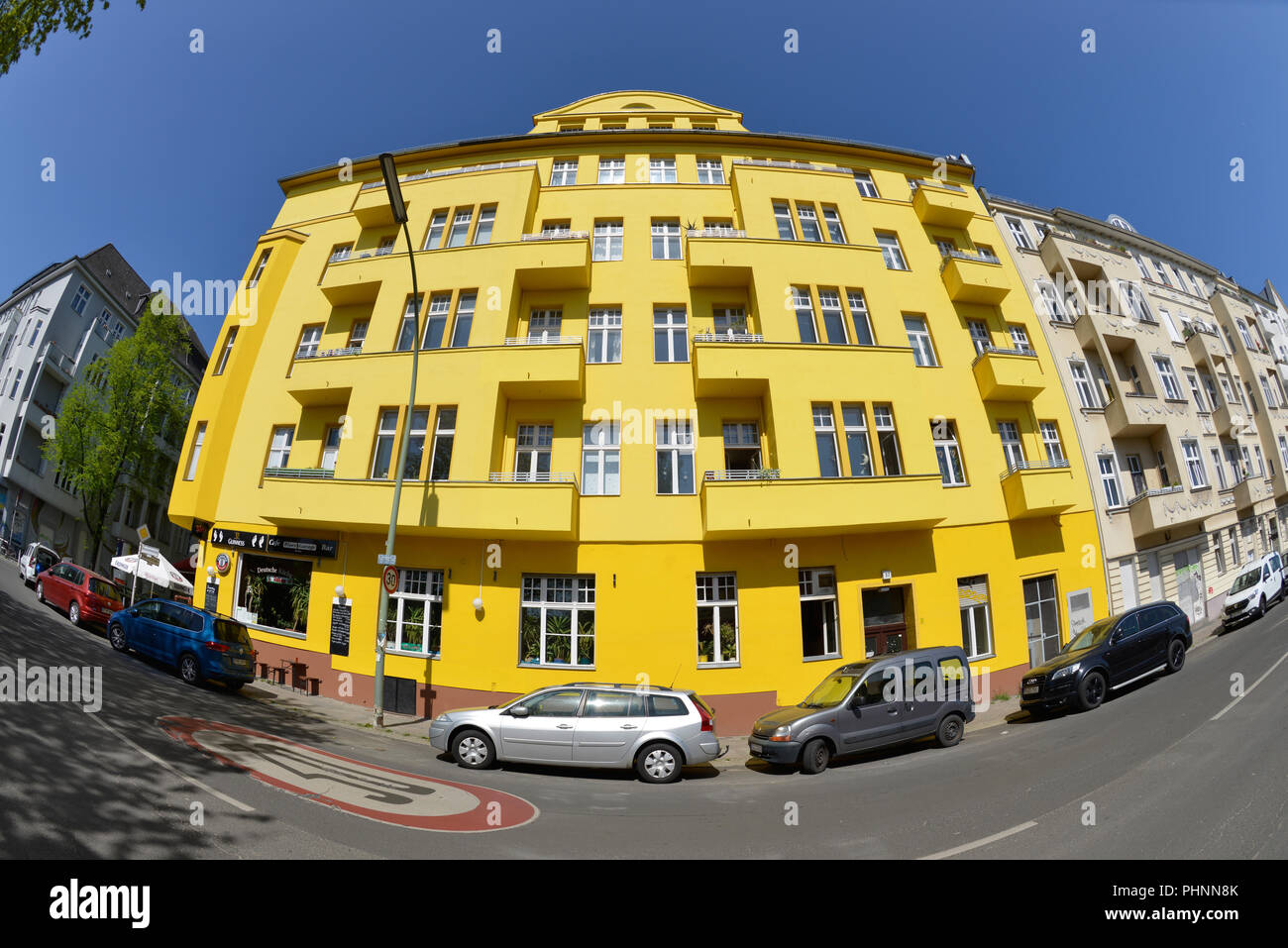 Altbau, Monumentenstrasse, Schoeneberg, Berlin, Deutschland Stock Photo