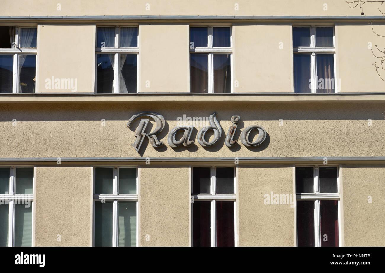 Alte Radio Werbung, Potsdamer Strasse, Schoeneberg, Berlin, Deutschland - Stock Image