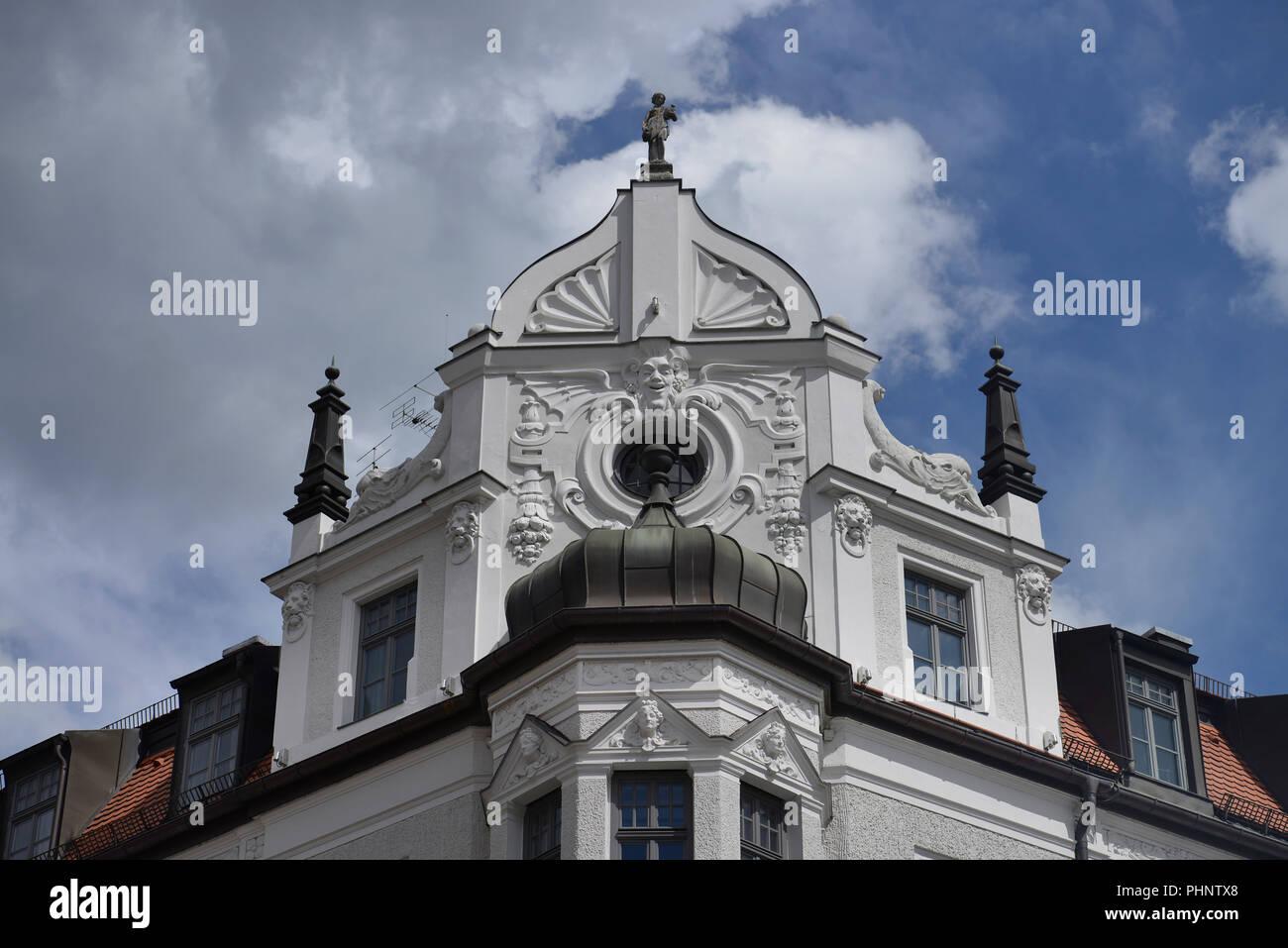 Stammhaus, Feinkost Kaefer, Prinzregentenstrasse, Muenchen, Bayern, Deutschland - Stock Image