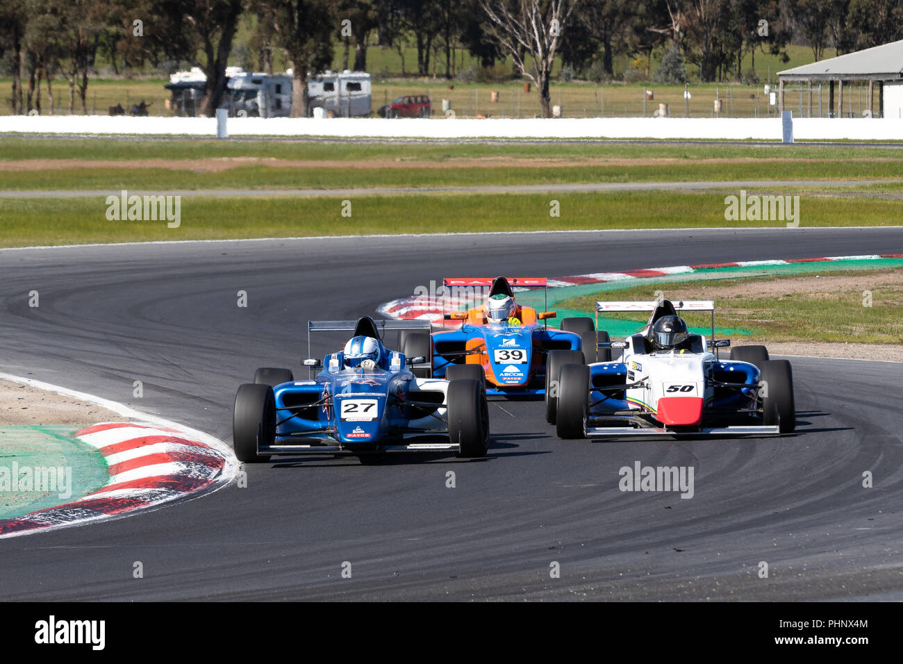 MELBOURNE, AUSTRALIA – SEPTEMBER 2: Zayd Tones & Ardie Jonic during the 2018 Shannon's Nationals, Round 5 - Winton, Australia on September 02 2018. Credit: Dave Hewison Sports/Alamy Live News - Stock Image
