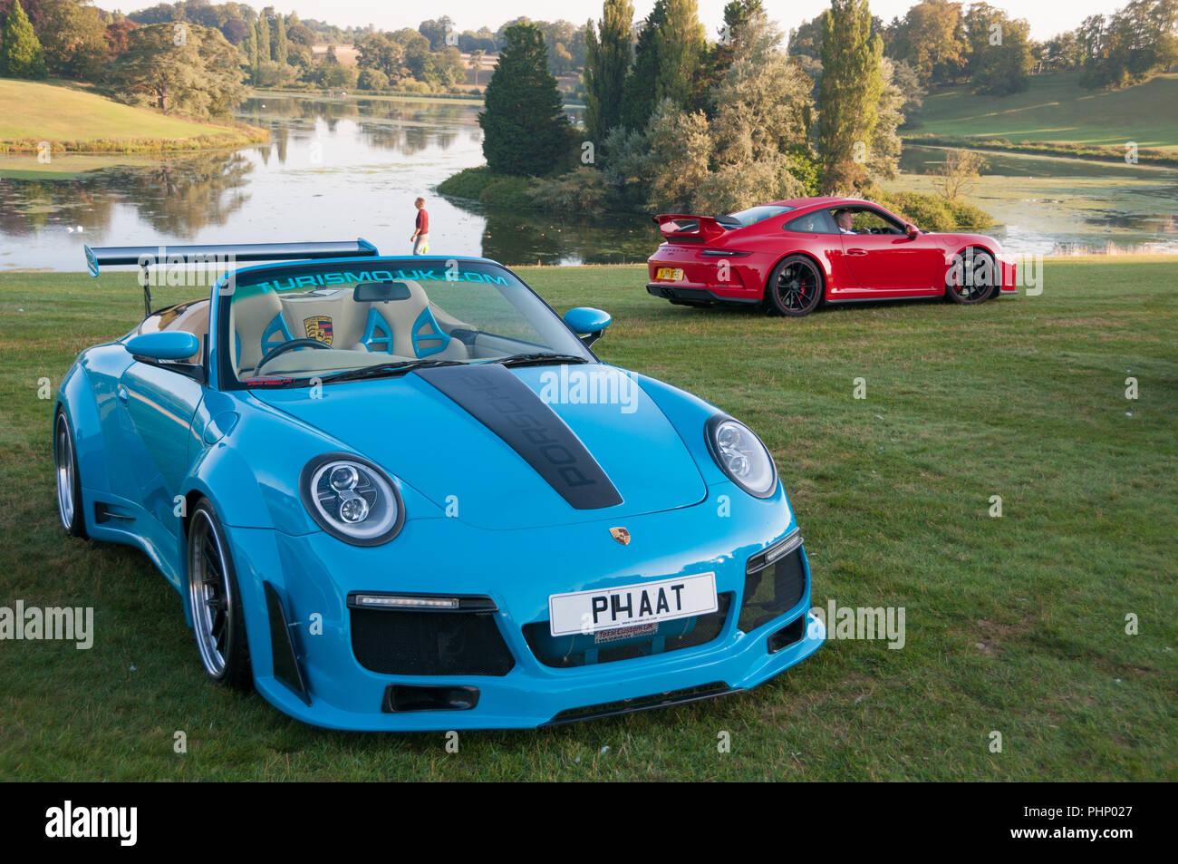 Woodstock, Oxfordshire, UK. 02nd Sep, 2018. Over 400 Porsches arrive at Blenheim Palace. Salon Prive Concours, Blenheim Palace Classic and Supercar event, Woodstock, Oxfordshire, 2nd Sep 2018 Credit: Stanislav Halcin/Alamy Live News Stock Photo