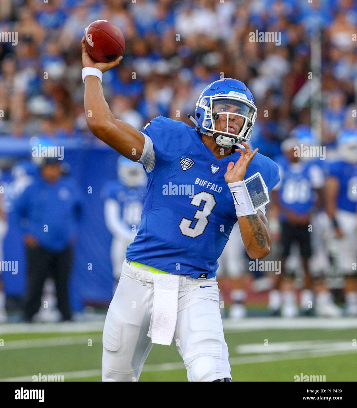 Amherst, USA  1st September 2018  Buffalo Bulls quarterback