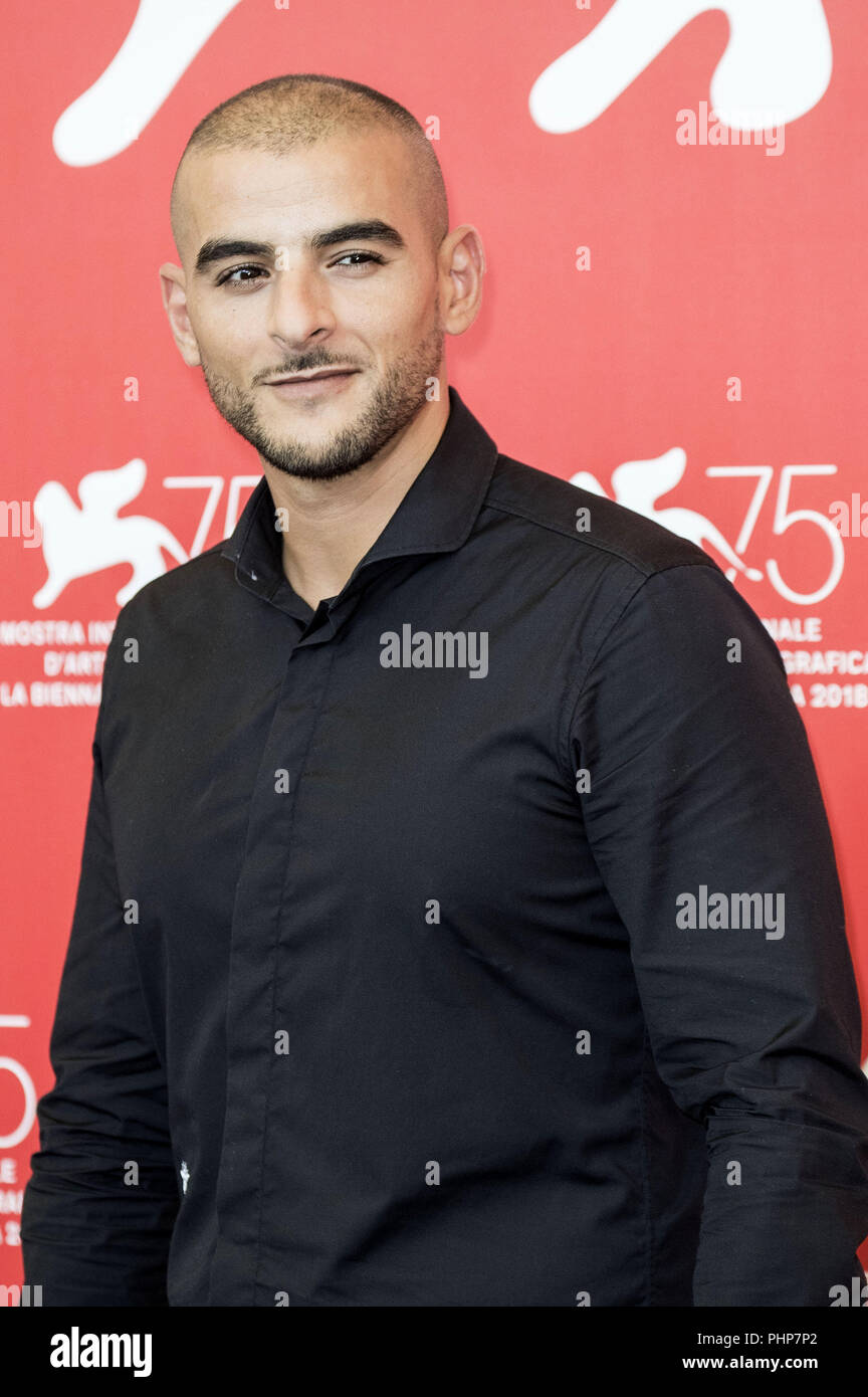 Venice, Italy. 01st Sep, 2018. Sofiane Zermani during the 'Frères ennemis/Close Enemies' photocall at the 75th Venice International Film Festival at the Palazzo del Casino on Setember 01, 2018 in Venice, Italy   usage worldwide Credit: dpa/Alamy Live News - Stock Image