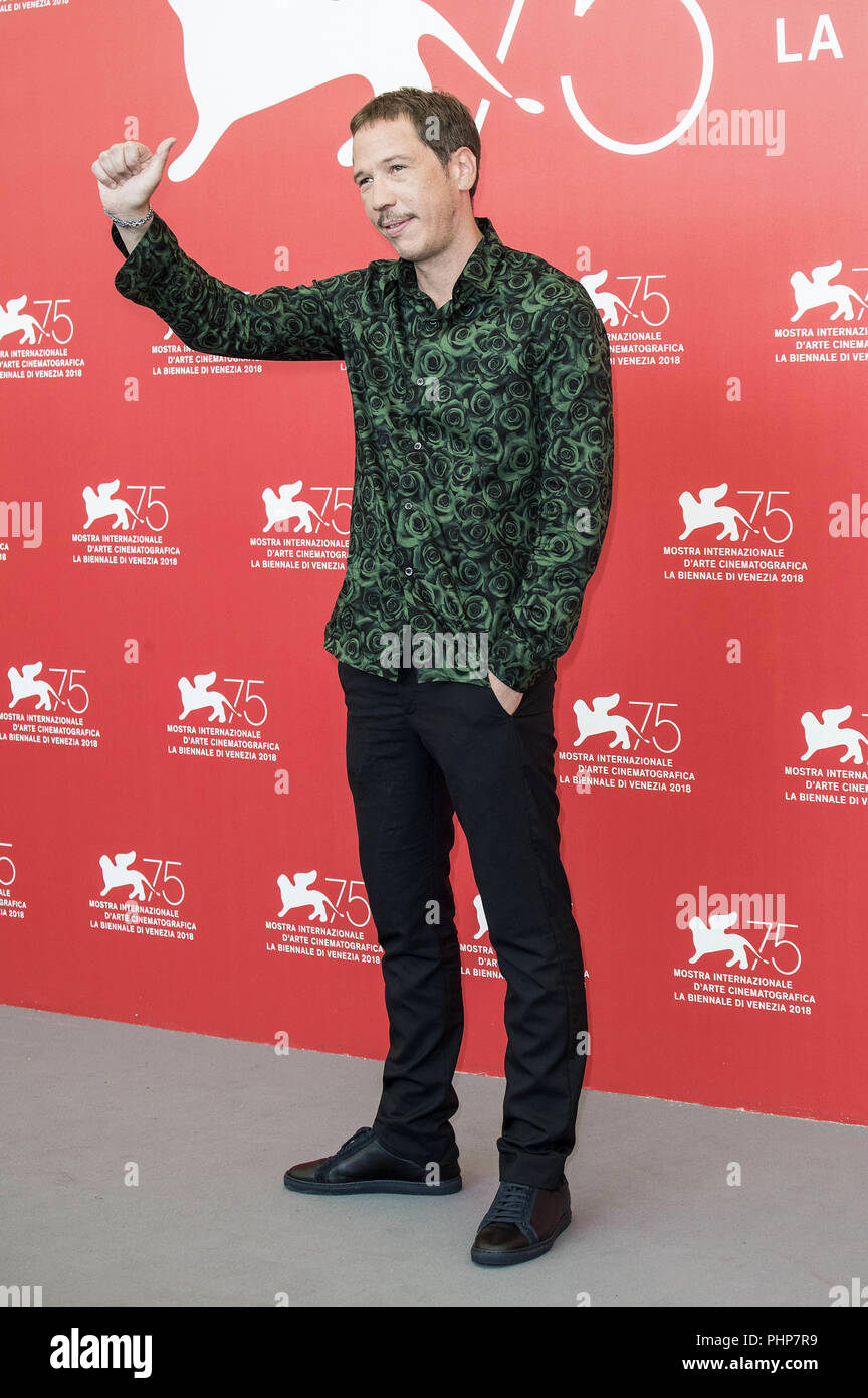 Venice, Italy. 01st Sep, 2018. Reda Kateb during the 'Frères ennemis/Close Enemies' photocall at the 75th Venice International Film Festival at the Palazzo del Casino on Setember 01, 2018 in Venice, Italy | usage worldwide Credit: dpa/Alamy Live News - Stock Image