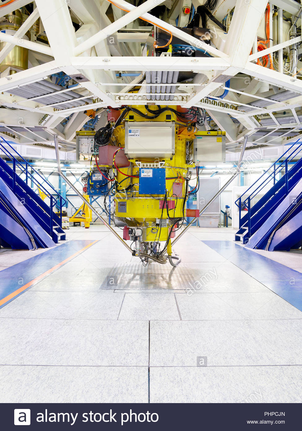 Telescope machinery at Paranal Observatory in Chile - Stock Image