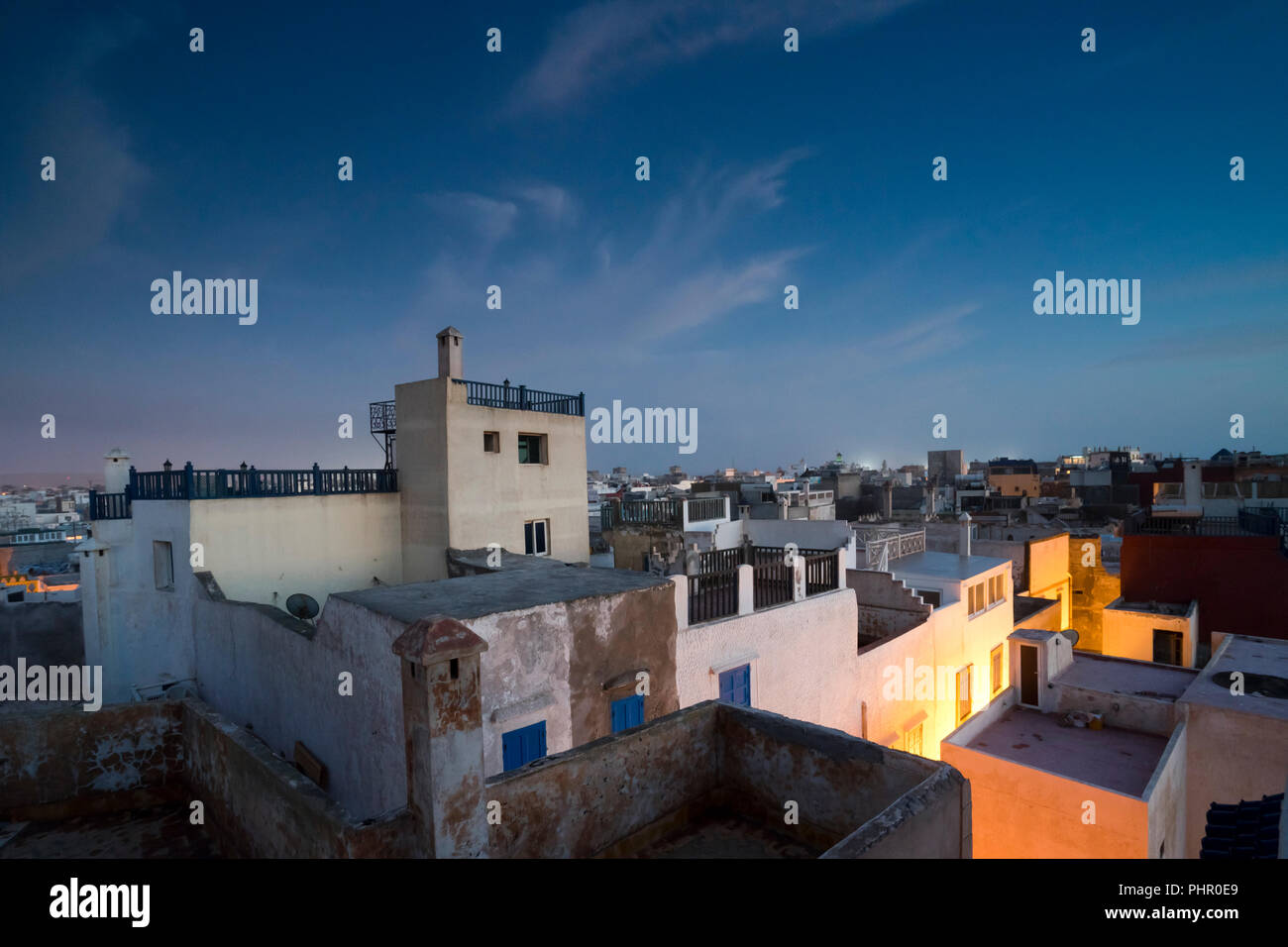 Essaouira, also known as Mogador, is a popular destination in North Africa - Stock Image