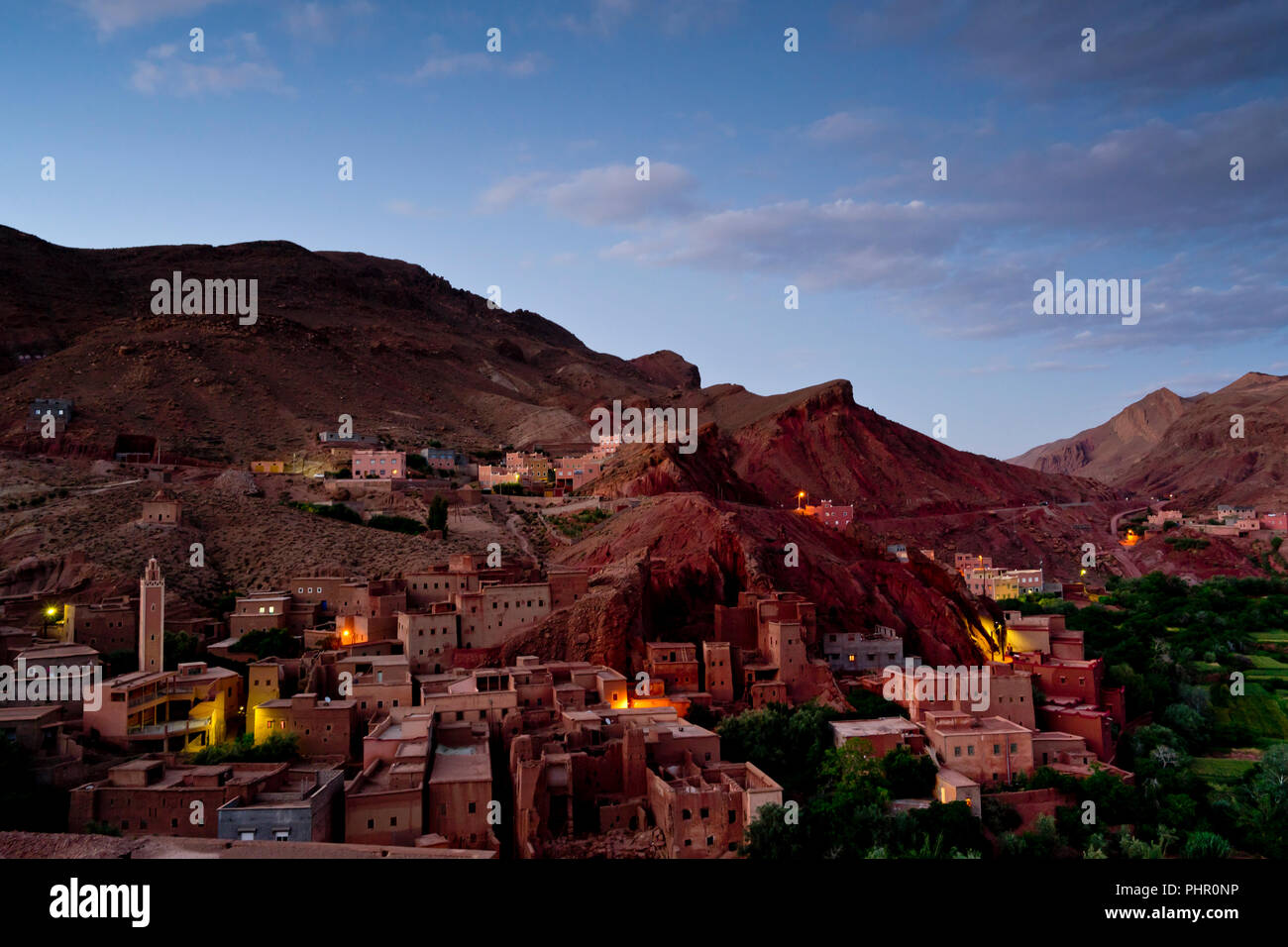 Das Dorf Ait Ibriren in der Dades Schlucht im Süden von Marokko - Stock Image
