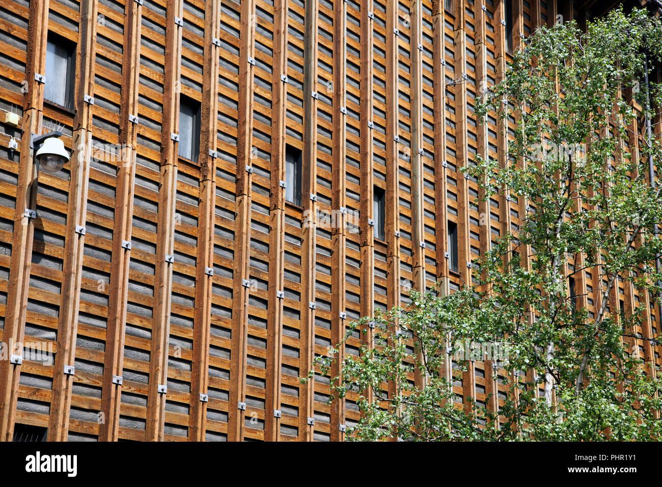 Building made of wood in Copenhagen - Stock Image