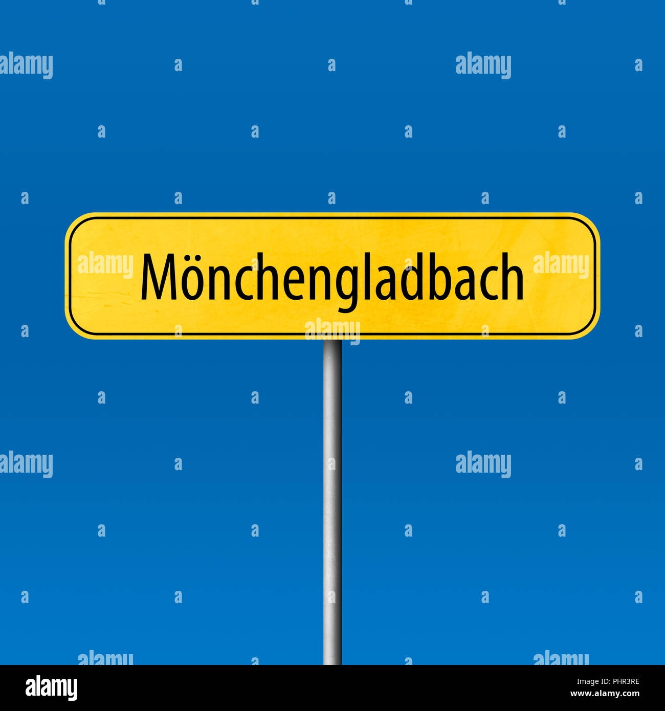 Mönchengladbach - town sign, place name sign - Stock Image
