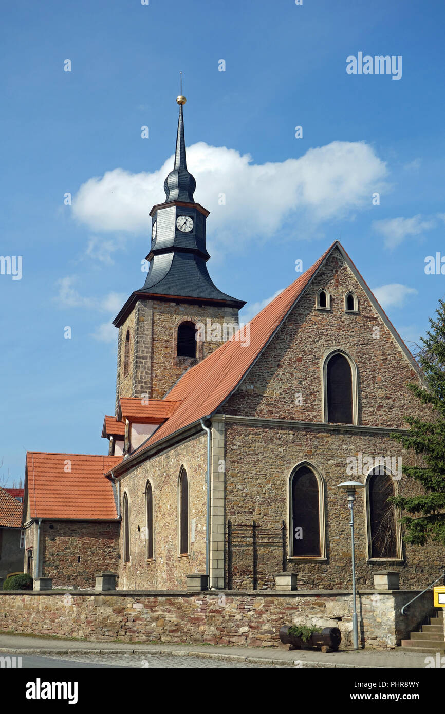 Ev. City church St. Johannis in Hoym - Stock Image