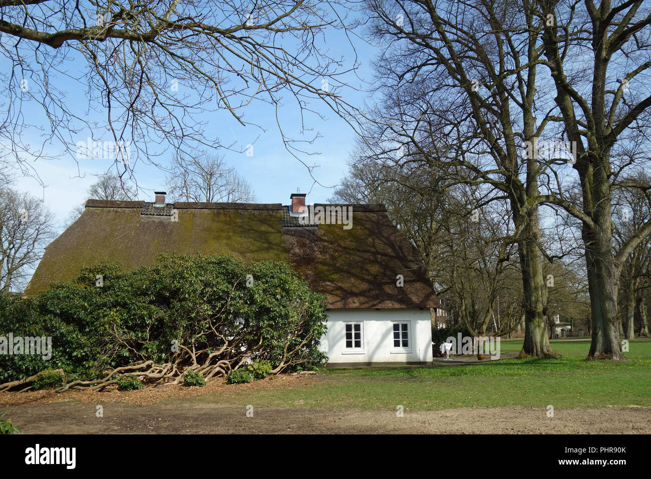 Guesthouse Witthues in Hirschpark in Hamburg Nienstedten Stock Photo