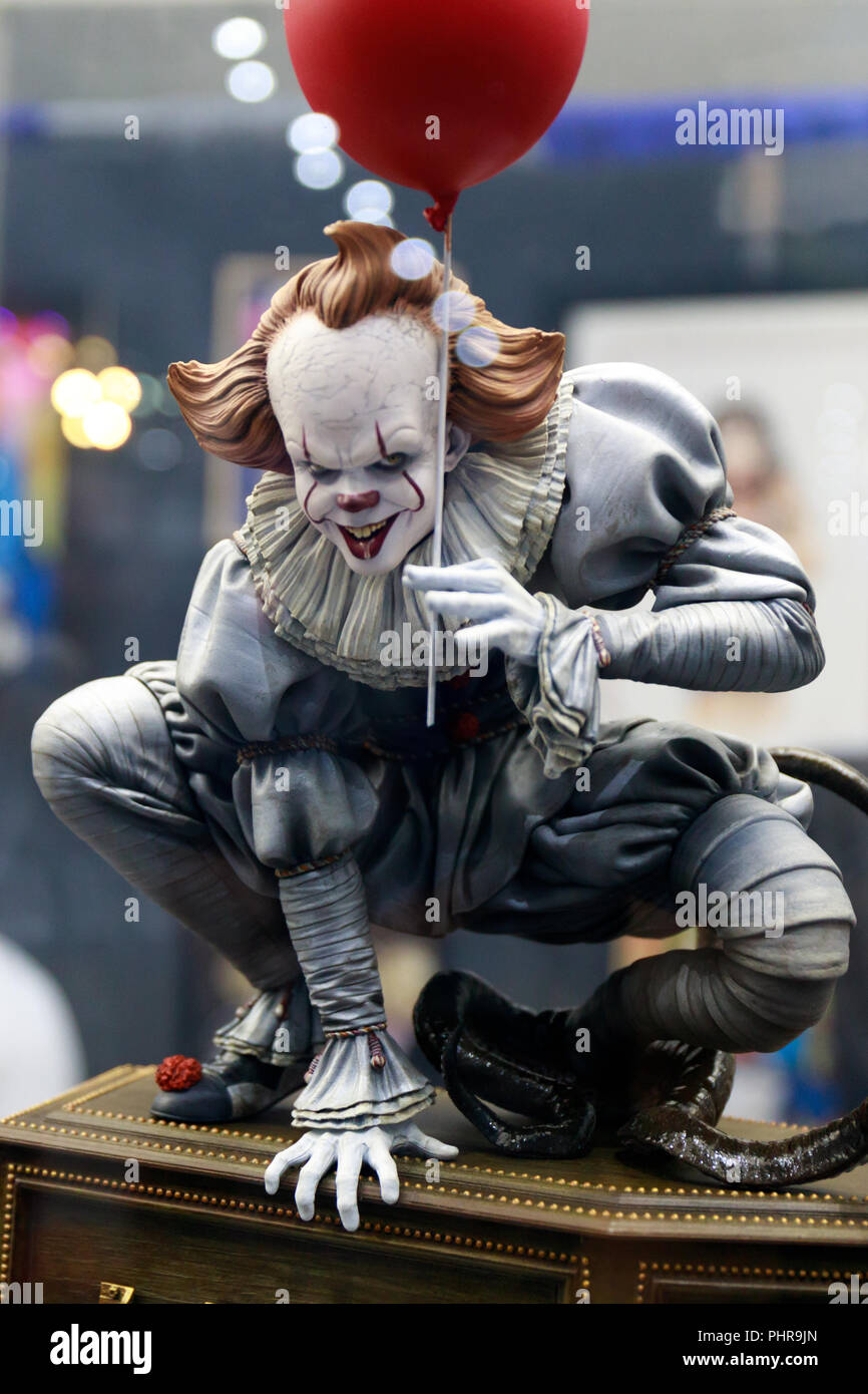 Pennywise figurine for sale at San Diego Comic Con 2018 - Stock Image