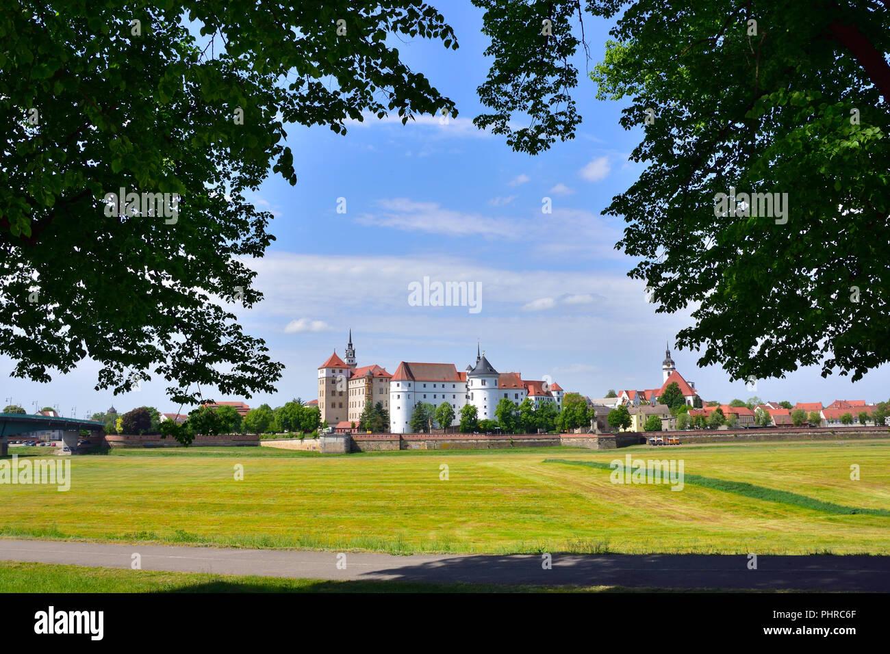 Castle Hartenfels in Torgau Stock Photo