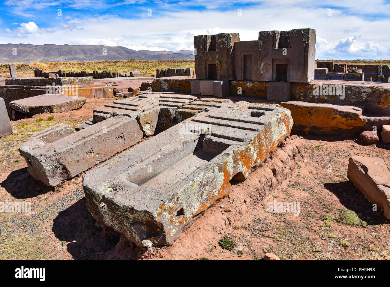 Elaborate Carving In Megalithic Stone At Puma Punku Part Of The