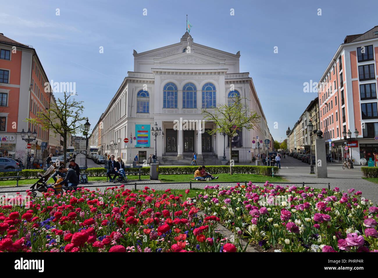 Theater, Gaertnerplatz, Muenchen, Bayern, Deutschland Stock Photo