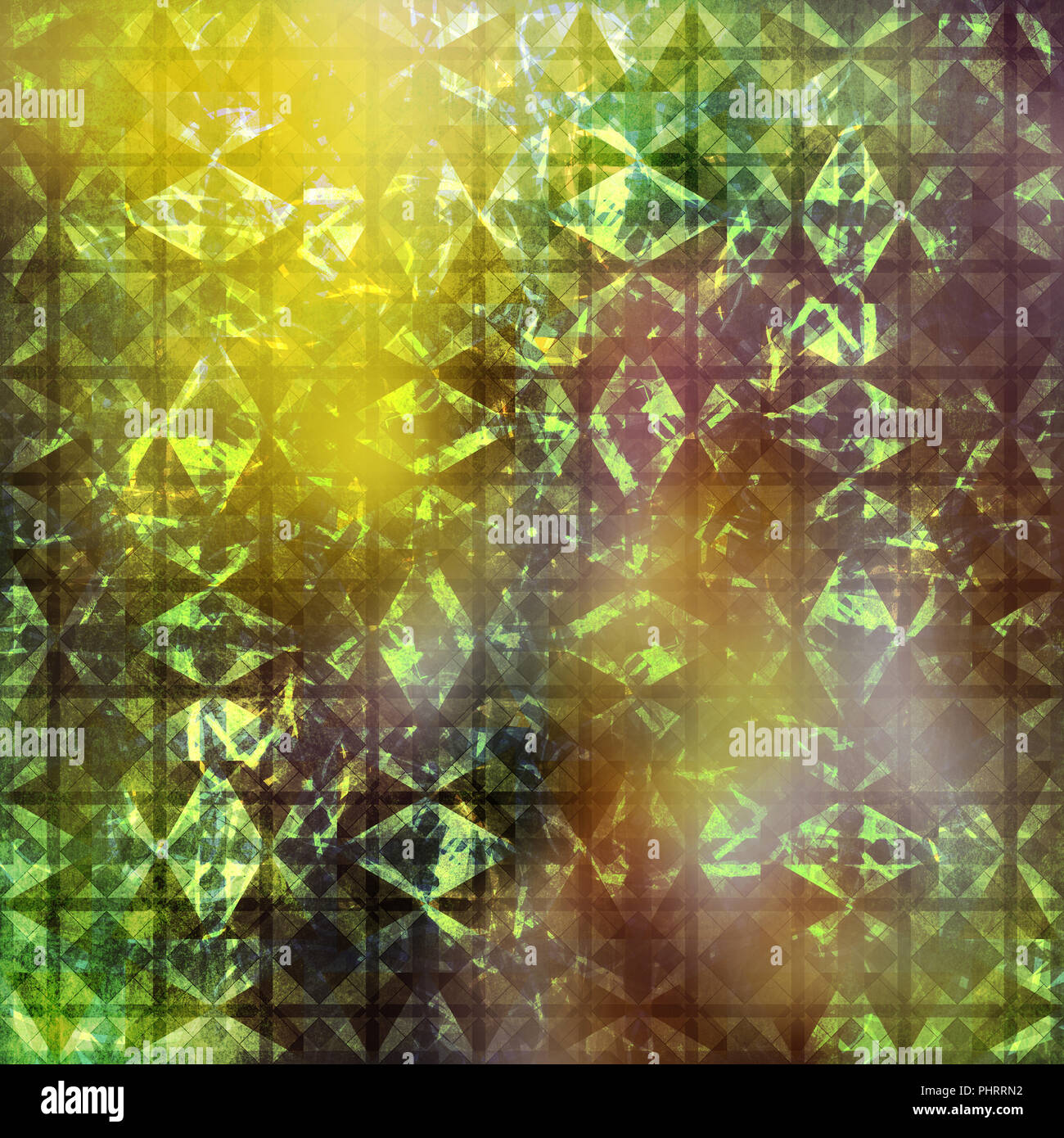 abstract mixed media background, arabesque pattern art - Stock Image
