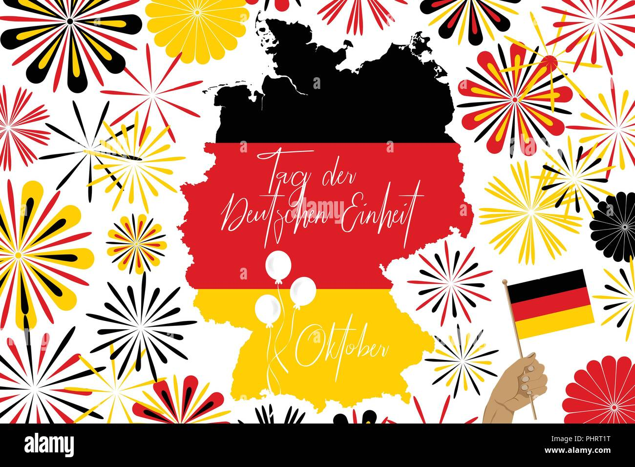 concept image of Germany map and abstarct fireworks and
