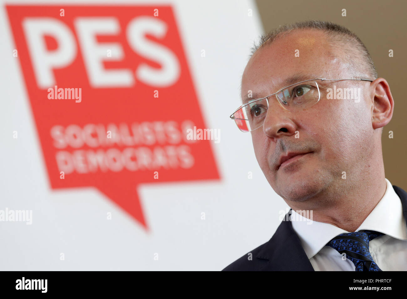 President of the Party of European Socialists (PES) Sergei Stanishev - Stock Image
