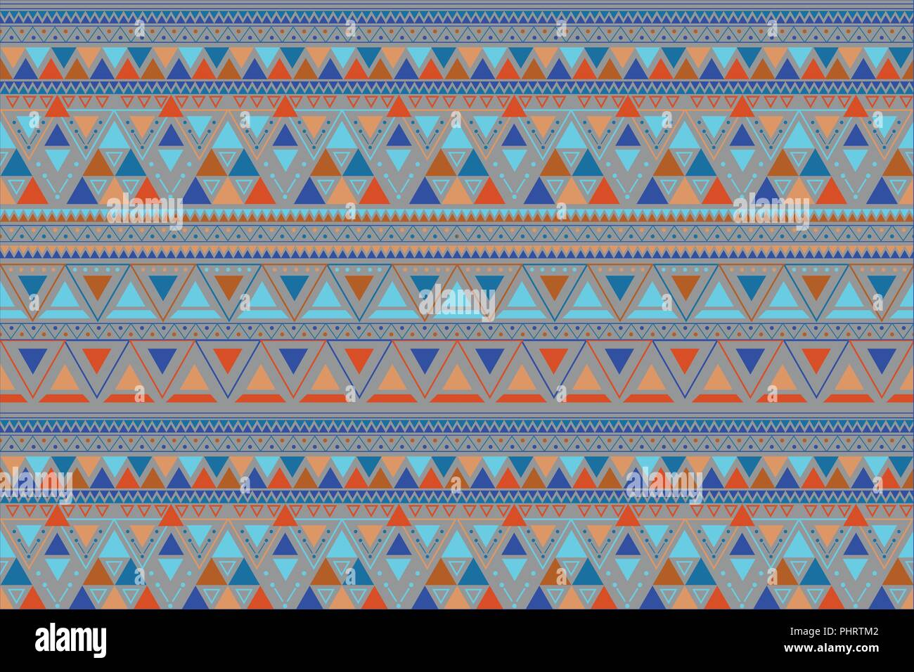 Tribal art lineal pattern. Ethnic geometric print. - Stock Image