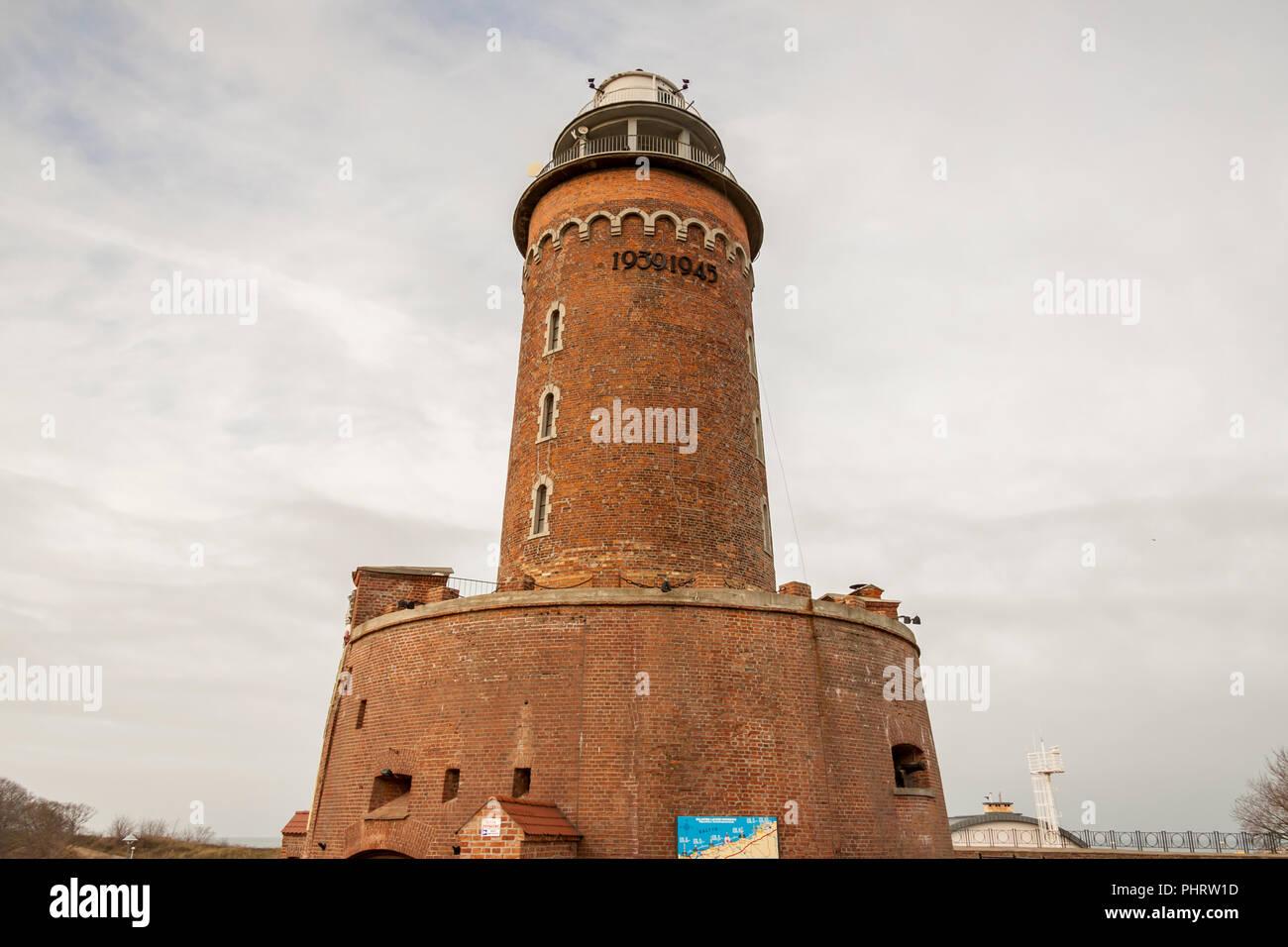 Lighthouse in Kolobrzeg, Poland. - Stock Image