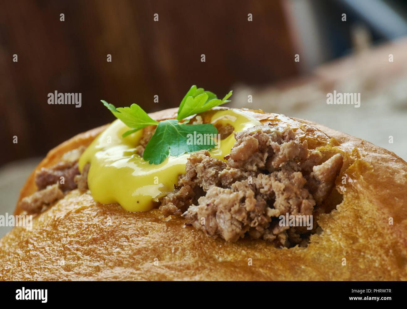 Petits pains farcis - Stock Image