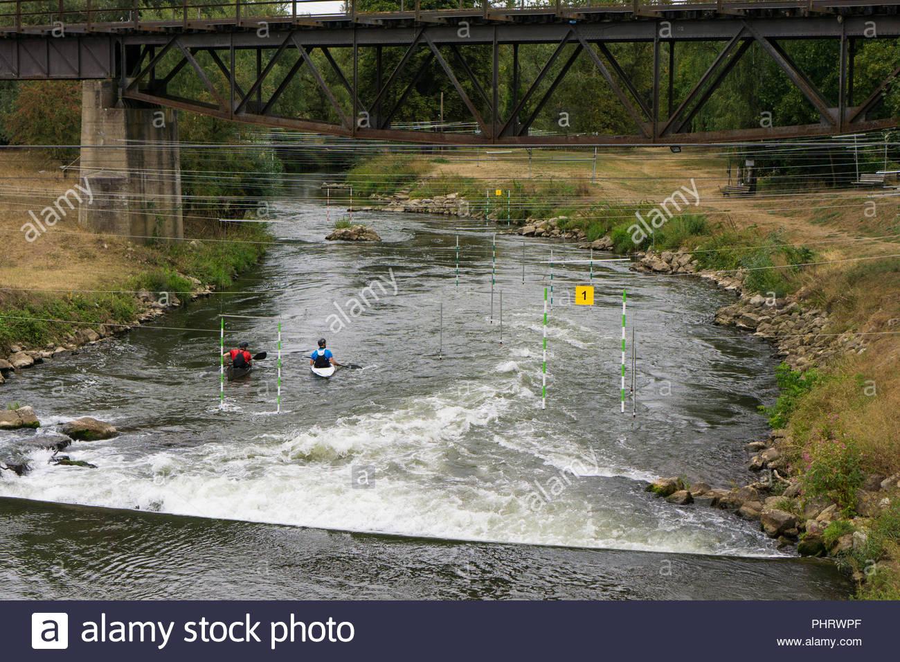 Nature & Canoe - Stock Image