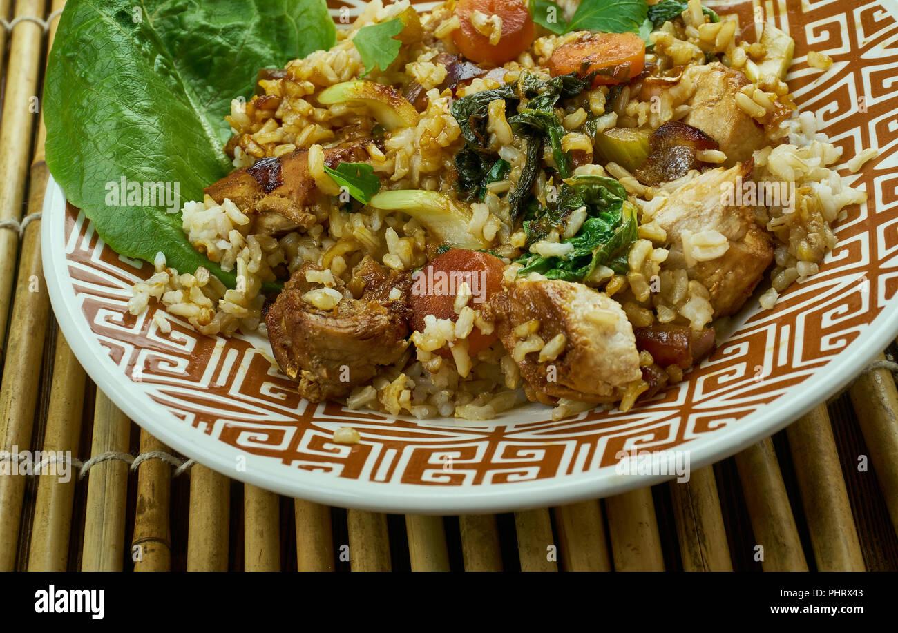 Slammin Pork Fried Rice Stock Photo