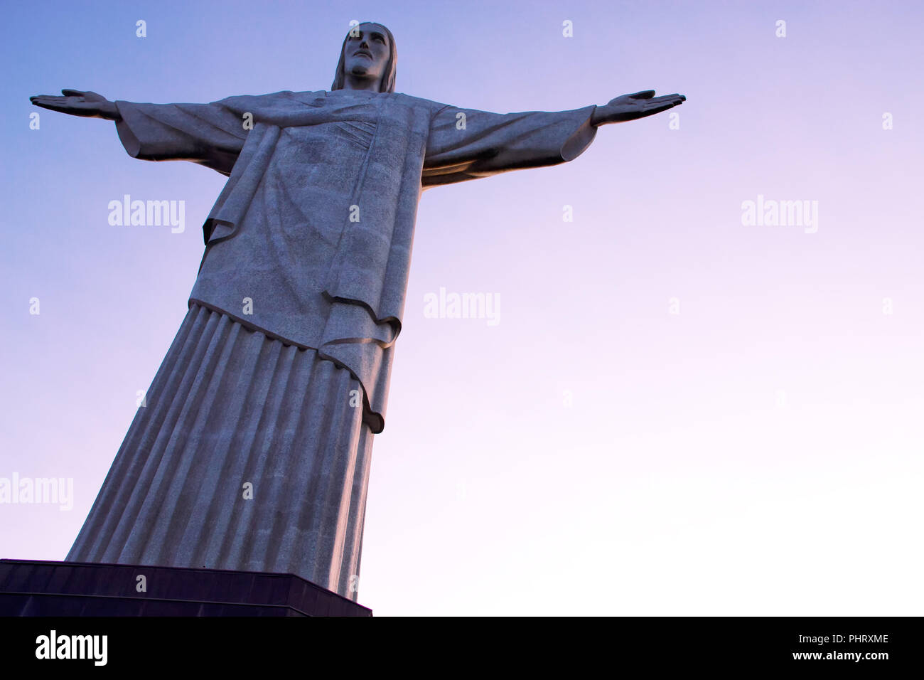 The statue of Christ the redeemer with open arms - Stock Image