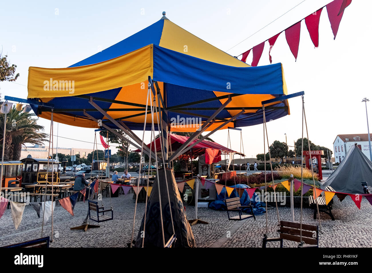 Medieval fair in Portugal - Stock Image